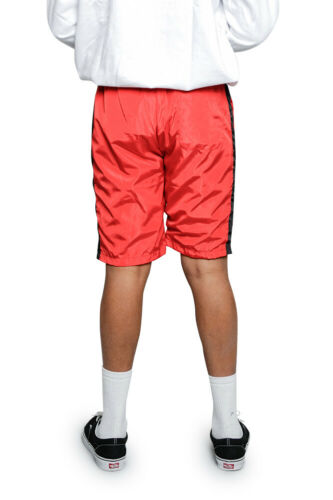 Men/'s Athletic Nylon Windbreaker Drawstring Gym Running Track Shorts   JS19-A9B