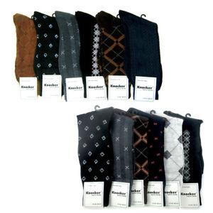 6-Pairs-Mens-Dress-Socks-Multi-Color-Print-Casual-Work-Size-10-13-Fashion-Crew