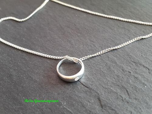 Taufring mit Zirkonia /& Kette 925 Silber