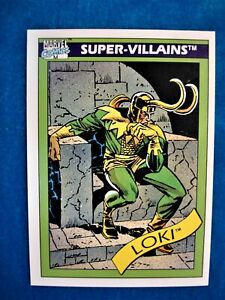 1990 MARVEL UNIVERSE/IMPEL MARVEL COMICS -SUPER VILLAINS - LOKI #54
