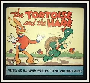 THE-TORTOISE-AND-THE-HARE-with-Dust-Jacket-Whitman-1935-DISNEYANA-IT
