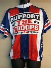 83 Sportswear Men s Support the Troops Cycling Jersey XXL RED WHITE BLUE 6e1a64d13