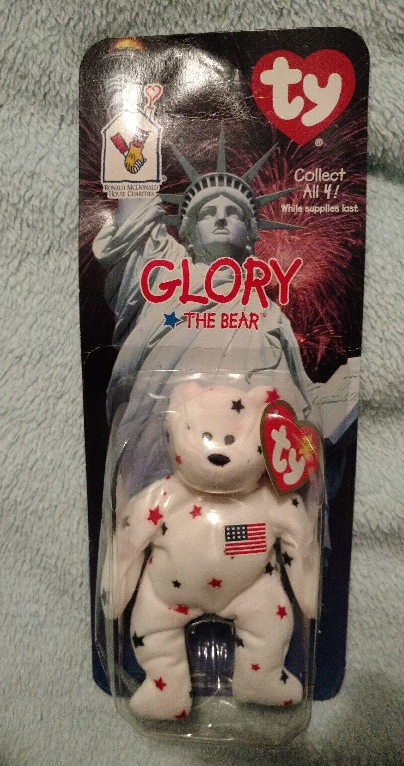Rare with Error 'Glory' The Bear  Ronald McDonald Ty Beanie Baby