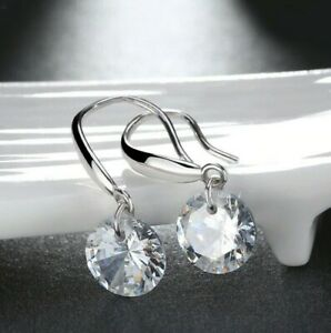 18K-White-Gold-Plated-Drop-Earrings-made-with-Swarovski-Crystal-with-Gift-Box