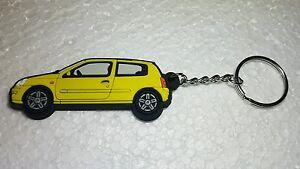 Praktisch Renault Clio 172/182 Schlüsselanhänger Gelb Auto & Motorrad: Teile Schlüsselanhänger