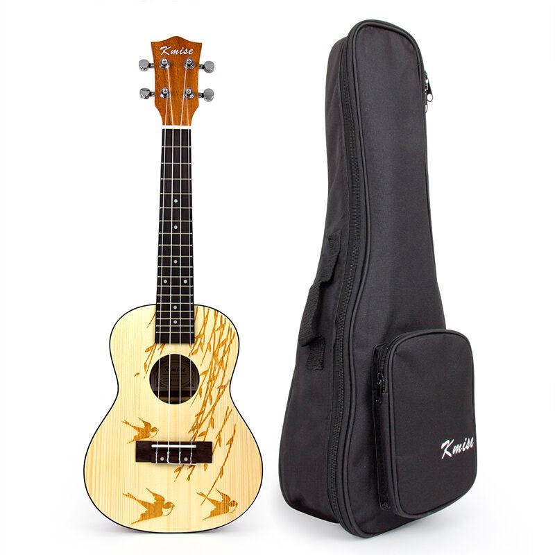 Sólida de abeto Ukelele de concierto kmise Hawaii Guitarra Guitarra Guitarra Instrumentos Musicales Con Bolsa 23  tienda de venta