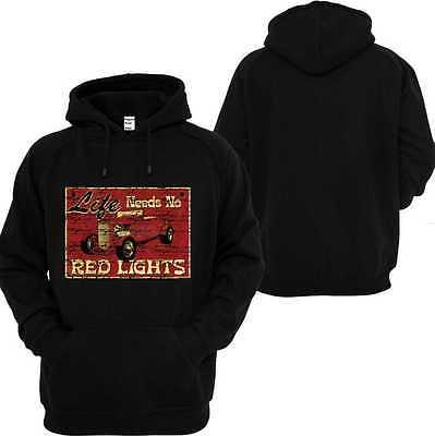 Leale Felpa Con Cappuccio Nero V8 Oldschool Hot Rod Us Car' 50 Style Motivo Red Lights-irt Schwarz V8 Oldschool Hot Rod Us Car `50 Stylemotiv Red Lights It-it Mostra Il Titolo Originale Medulla Benefico A Essenziale