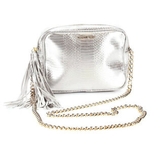42dd9dfe10d Details about NEW Genuine VICTORIA'S SECRET Silver Cross-Body Handbag  Messenger Bag Purse