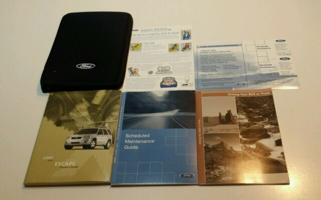 2005 ford escape owners manual xlt limited xls 4wd 2wd 3 0l v6 2 3l rh ebay com 2005 ford escape xlt owners manual 2005 Ford Escape Repairs
