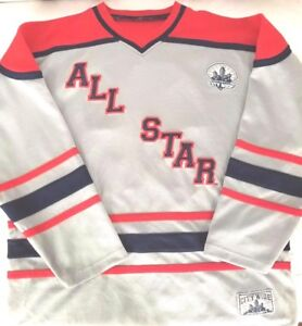 Details about STEVE   BARRY S CITY WIDE ALL STAR Men s Hockey Jersey  Gray Red Blue Sewn XL 48d7f5731e7