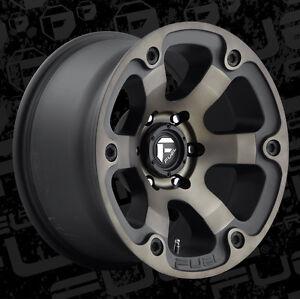5 18 fuel beast d564 black wheels 35 toyo at2 tires package jeep wrangler jk ebay. Black Bedroom Furniture Sets. Home Design Ideas