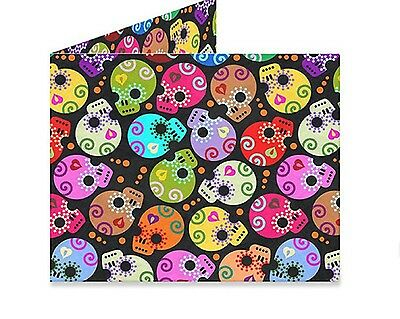 TYVEK Skull Five Orange Pips Mens Bifold Mighty Wallet Dynomighty Wallets AC-TH1