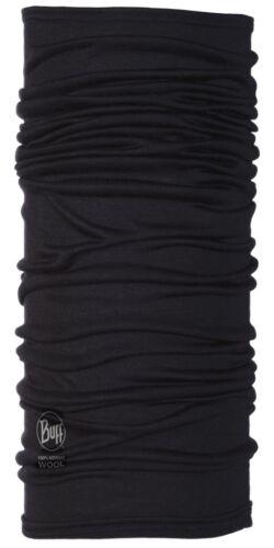 Buff Black Lightweight Merino Wool Multifunctional Headwear Merino Wool Buff