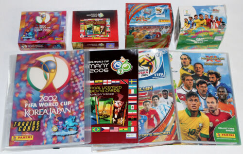 2010 2014 2006 MEGA-SET Panini TRADING CARDS ADRENALYN XL BOX+BINDER WC 2002