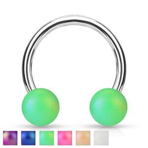 Matte-Finish-Ball-Circular-Barbell-Septum-Ring-Horseshoe-Piercing-16g-3-8-034