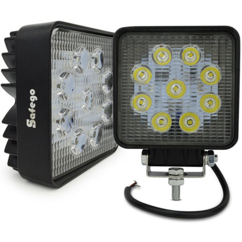 2pcs 27W Spot Lamp Led Work Light Boat Tractor Truck Offroad SUV  Car ATV 4X4