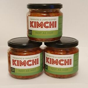 UK Made Kimchi x3 mildflavour. Autentico & fermentato