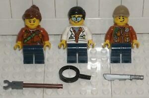 Lego JUNGLE EXPLORER Female Minifigure from 60157 New with MACHETE
