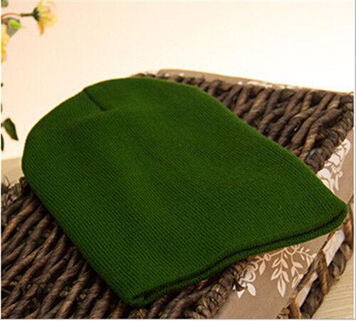 Men/'s Women Knit Ski Cap Hip-Hop Blank Color Winter Warm Unisex Beanie Wool Hat