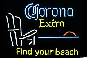 New Corona Extra Find Your Beach Light Lamp Neon Sign Bar ...