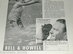 1938 Bell & Howell advertisement, Filmo movie camera Filmo 8mm