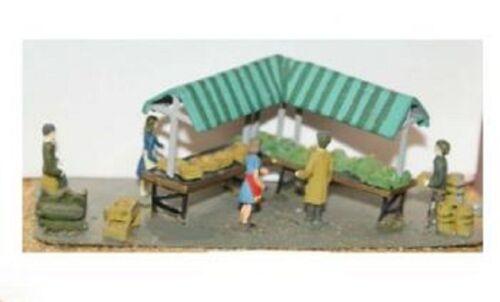 LANGLEY MODELS F3 1:76th OO Gauge Market scene /& figures