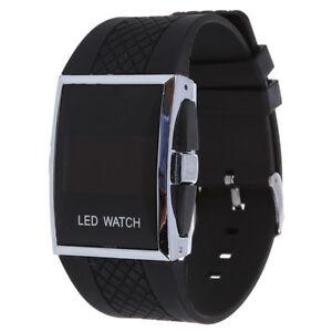 Luxux-Maenner-rote-LED-helle-Sport-Armbanduhr-Geschenk-Art-Schwarz