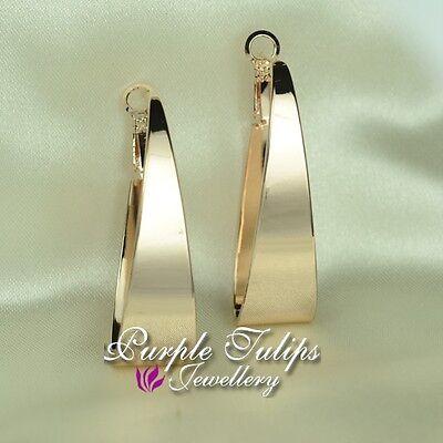 18CT White//Rose Gold Plated 4.0cm Diameter Hoop Earrings