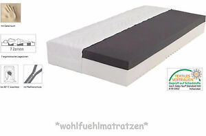 25cm h he 7 zonen premium kombi gelschaum matratze alle gr en w hlbar ebay. Black Bedroom Furniture Sets. Home Design Ideas
