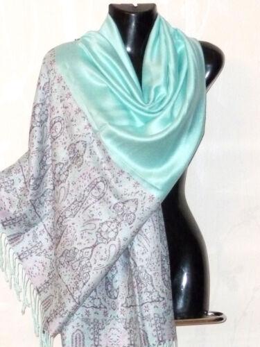 foulard écharpe étole scarf shawl  laine soie wool silk neuf 180x70cm