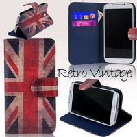 Retro Vintage Union Jack Flip Wallet Leather Stand Case Cover Credit Card Slot