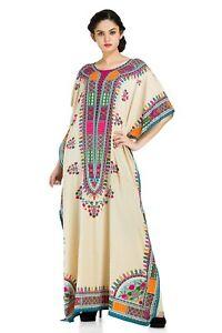 7e195142306 Off-White Floral Dress Kaftan Women Size Maxi Cover Plus Womens Long ...