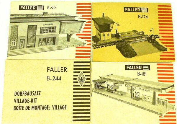 4 X Faller Manuel B-99 B-176 B-181 B-244 Ams Å Renforcement De La Taille Et Des Nerfs