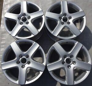 4-Orig-VW-Alufelgen-7Jx17-ET54-1K0601025B-VW-Golf-V-Golf-VI-Jetta-Touran-F3191
