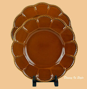 Image is loading Set-of-2-Dinner-Plates-MINT-Certified-International- : karidesign dinnerware - pezcame.com
