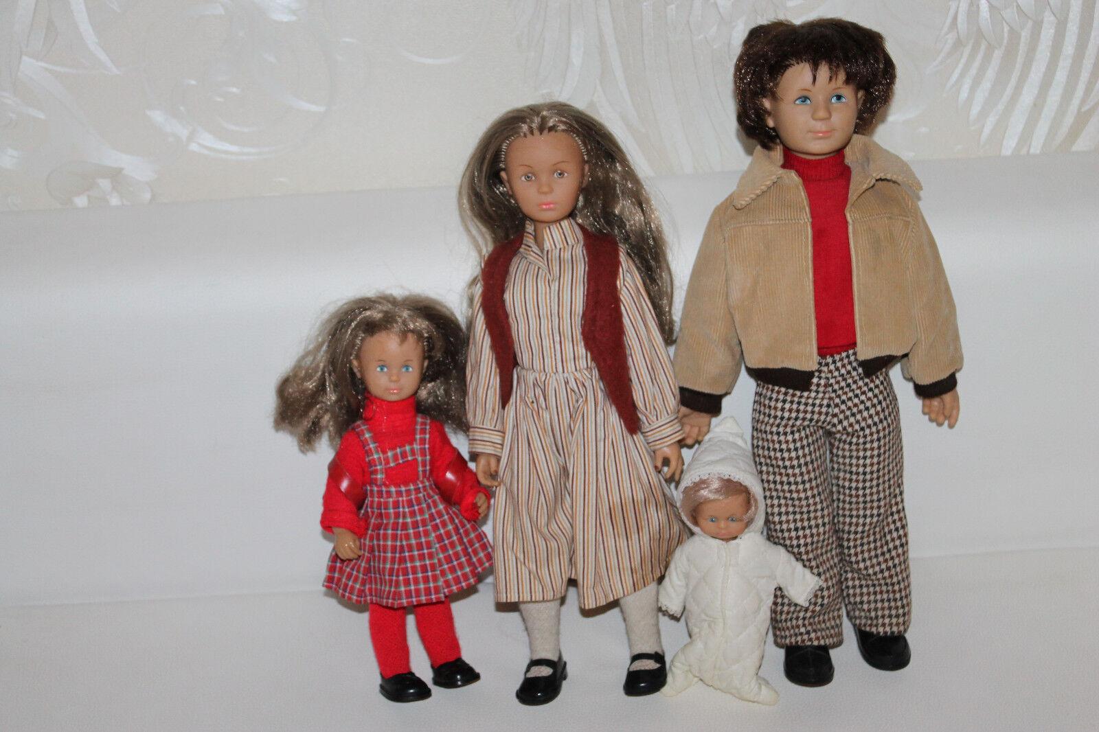 Familia muñeca bebé 70-er años vintage móviles mano & fußgelenken rar