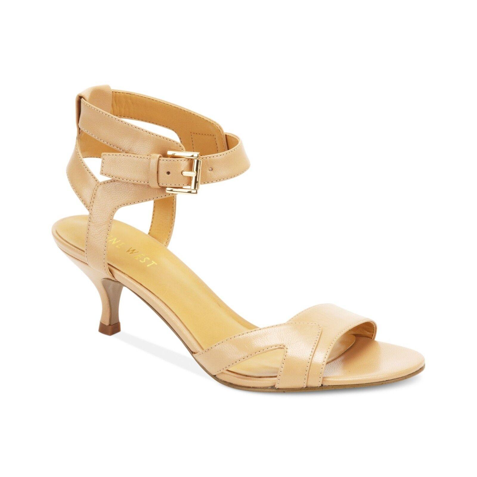 Ladies NINE WEST Low-Heeled Round Opened Toe Natural Sandal shoesBRAND NEWRARE