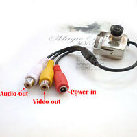 Mini IR Wired 600tvl video CCTV Security Hidden Pinhole Surveillance Spy Camera
