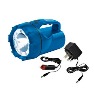 DRAPER-3W-9-LED-RECHARGEABLE-CAMPING-TORCH-LIGHT-WITH-MAINS-amp-CAR-CHARGERS-51339