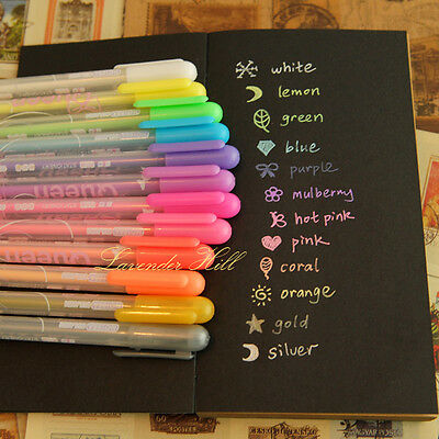 Multi Colour Pen Set Neon Gel Ink Biro Candy Gold Silver Card Making Scrapbook