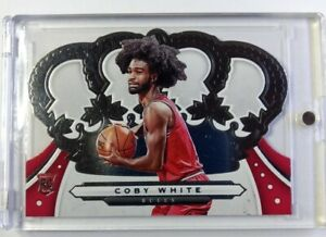 2019-20 Panini Crown Royale Coby White Rookie RC #69, Chicago Bulls, Die-Cut