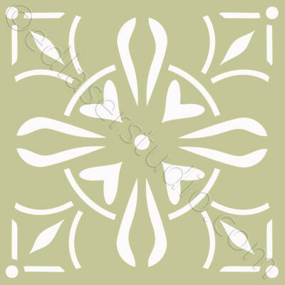 Tile 100mm Moroccan Stencil Template Paint Home Decor Furniture Wall Crafts TL31
