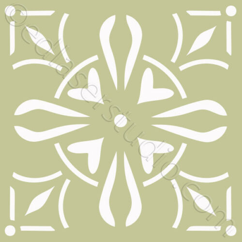 Tile Stencil 100mm Moroccan Template Paint Home Decor Furniture Wall Crafts TL14