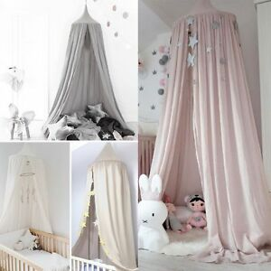 Image is loading Kids-Baby-Bed-Canopy-Bedcover-Mosquito-Net-Curtain- & Kids Baby Bed Canopy Bedcover Mosquito Net Curtain Bedding Dome ...
