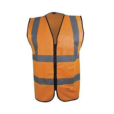 Blackrock ZIPPED Executive Hi Vis Vest High Viz Waistcoat Yellow / Orange BHZEV