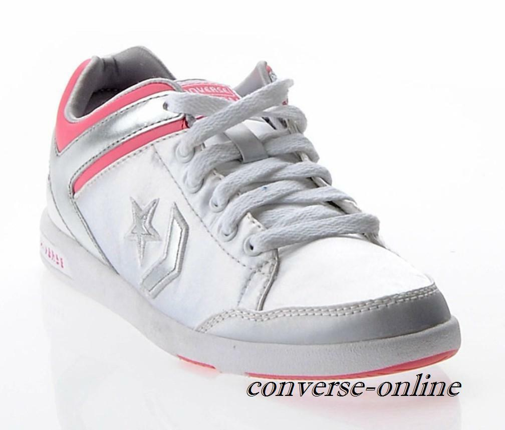 Femmes Converse All Star Argent Rose arme Ox Low Baskets Chaussures Taille UK 5