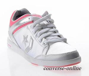 2c7a053e9377 Women s CONVERSE All Star SILVER PINK WEAPON OX Low Trainers Shoes ...