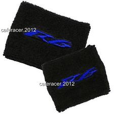 YAMAHA R6 BRAKE/CLUTCH RESERVOIR SOCKS FLUID TANK OIL CUP COVER SET BLACK&BLUE