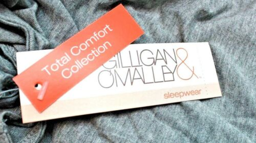 Gilligan/&Omalley Total Comfort Collection Womens 2pc Gray Short Set Sz XL