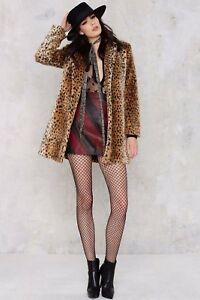 Size Womens 10 Animal Jacket Leopard Fur Print Faux Island Uk Coat Ladies River BFxqtywEPK